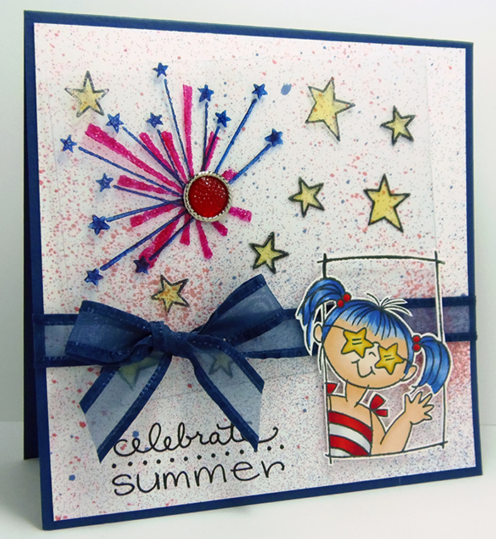 Celebrate Summer in Red, White and Blue Card