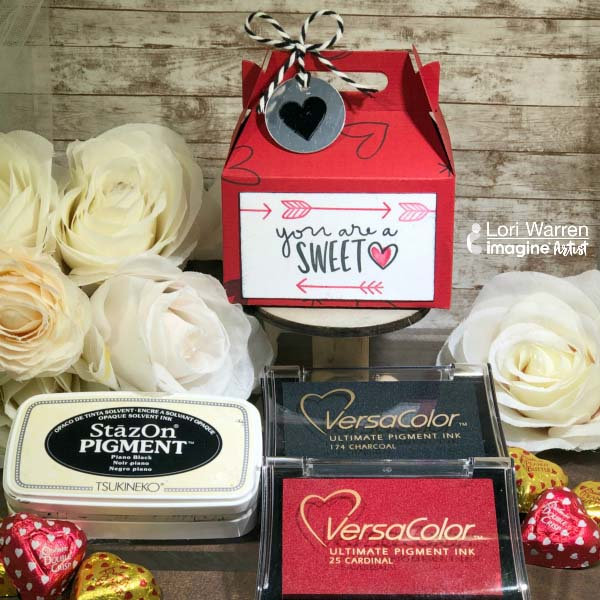 Treat a special friend with a hand stamped Valentine's day box this year, filled with their favorite treat.  Gift giving is the greatest part of Valentine's day!