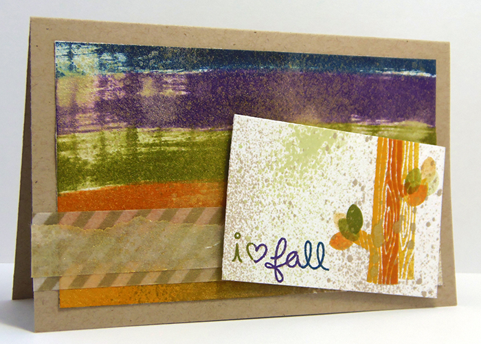 I Love Fall Card with Kaleidacolor