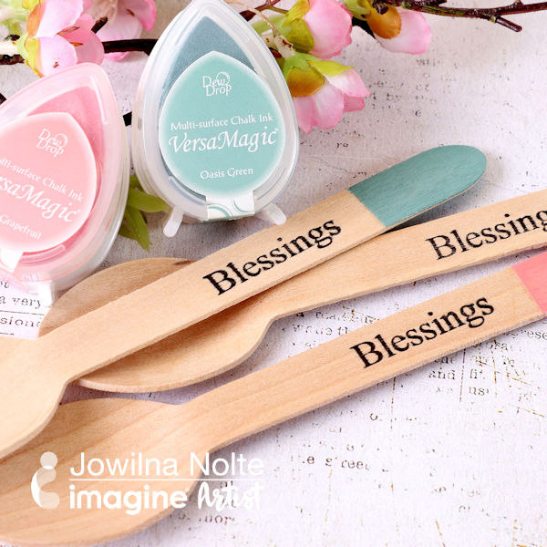 Easter Crafts Versamagic wooden spoons