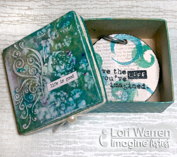 Mix your Mediums to Decorate a Chipboard Box