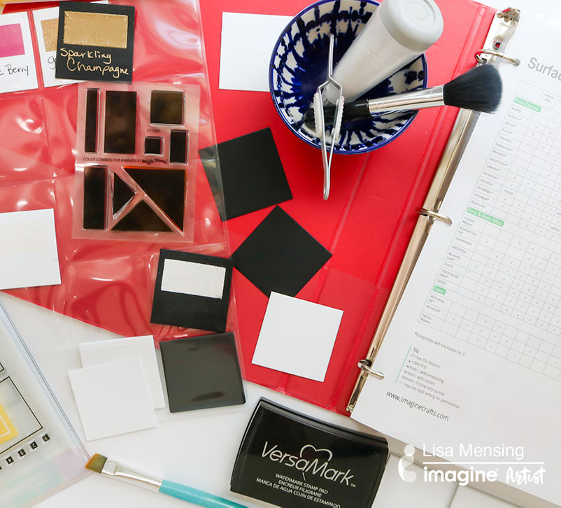 embossing powder organization