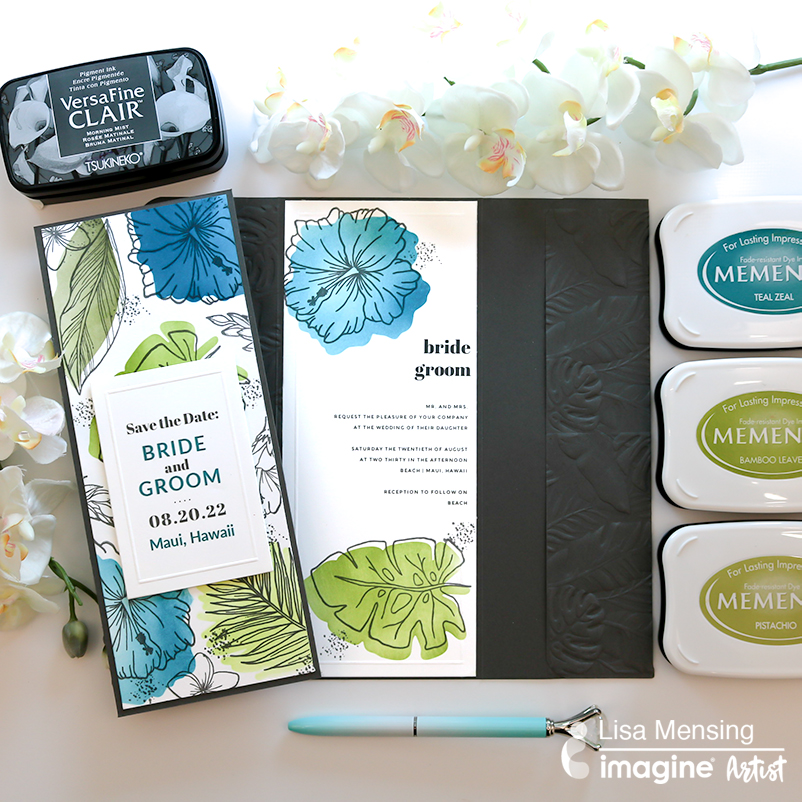 How to Create a DIY Slimline Pocket Wedding Invitations | Wedding Planning