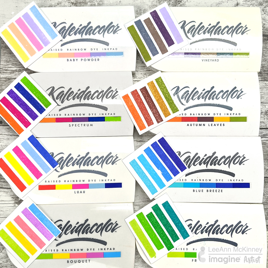 Kaleidacolor ink pad swatching video for every time of the year