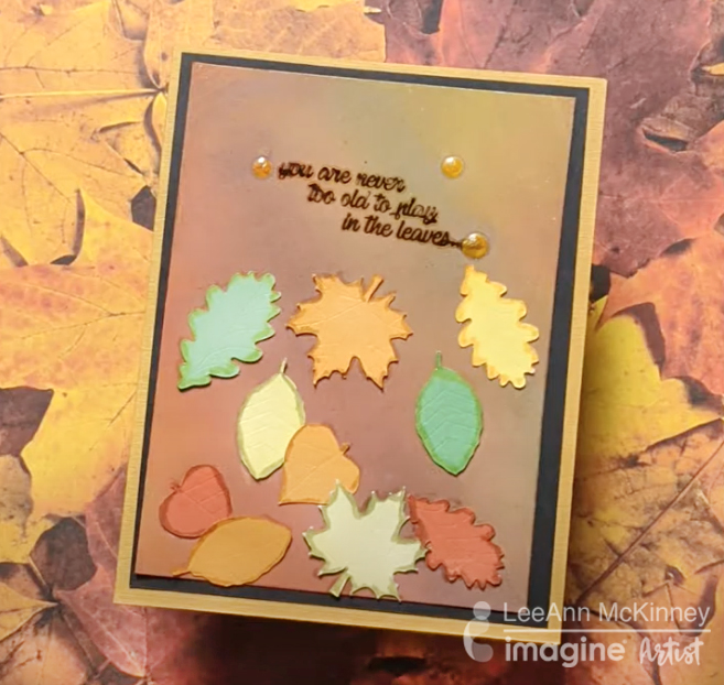 How to Make a Fall Card with One Ink Pad