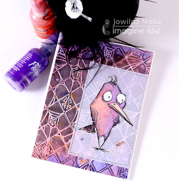 Learn How to Water Color a Halloween Card with Fireworks Shimmery Craft Spray