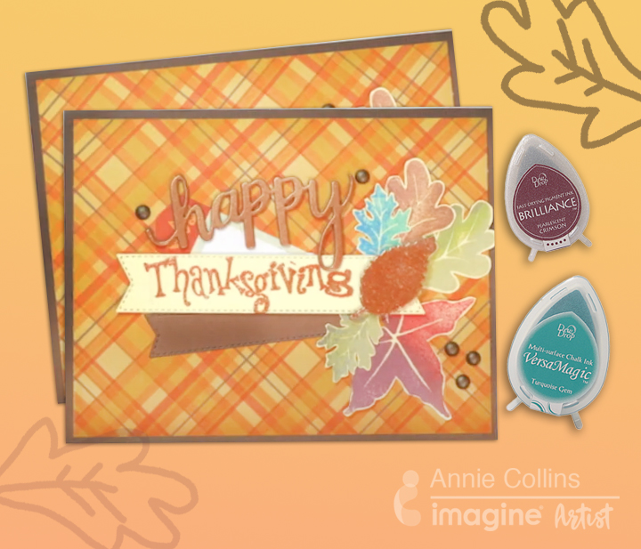 How to Create Thanksgiving Card with Ink Blending