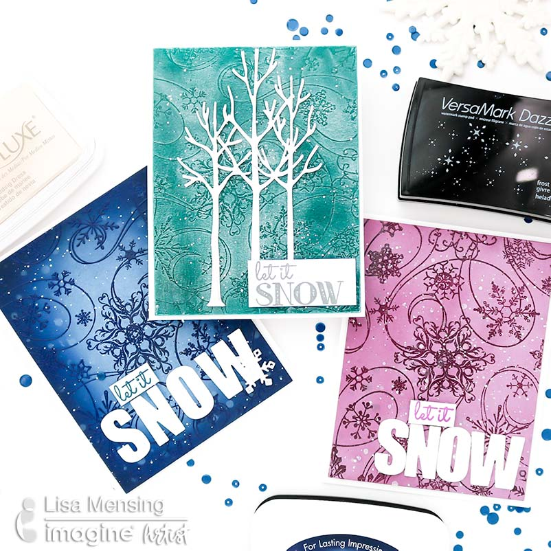 How To Create Holiday Card Backgrounds with Tsukineko Inks
