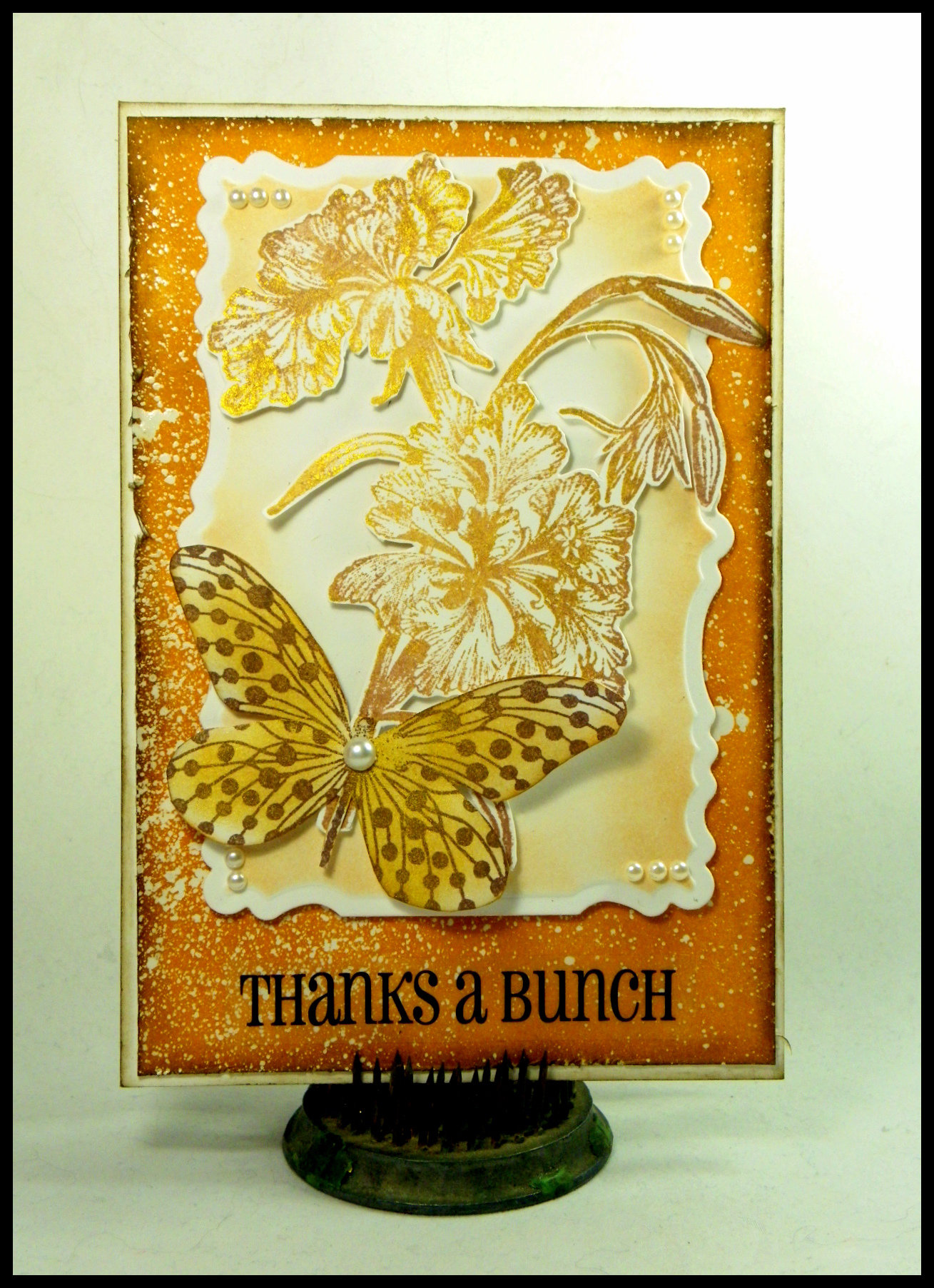 Delicata Ink to Make a Thanks a Bunch Butterfly Card