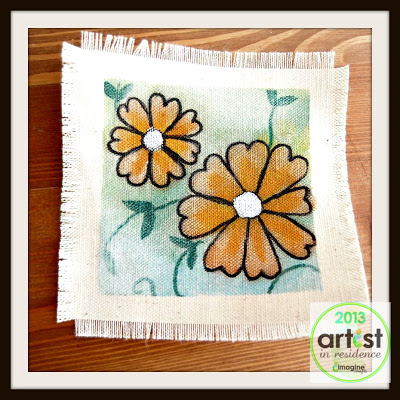 Canvas Coaster with VersaCraft Fabric Ink