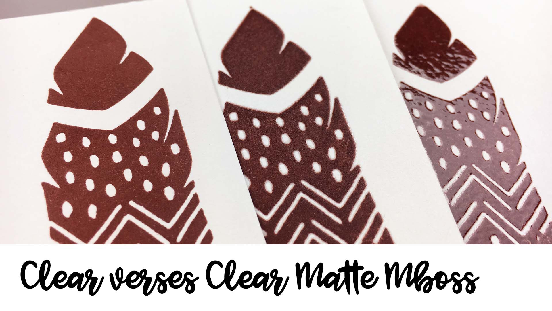 Comparison of Clear and Clear Matte Mboss