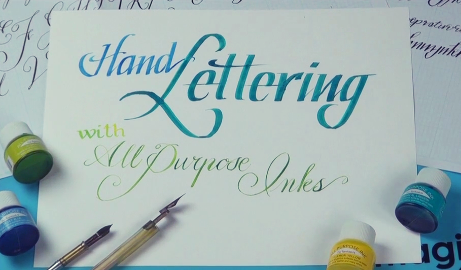 Calligraphy with All-Purpose Ink