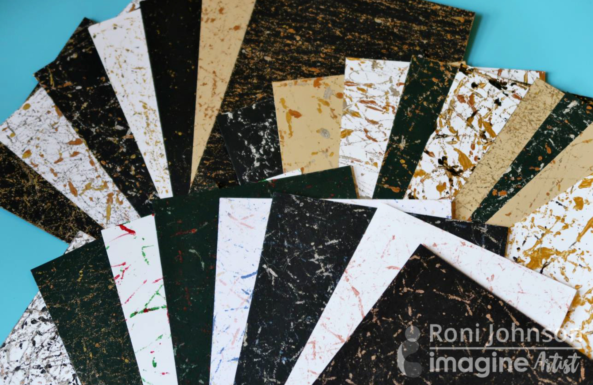 Make Marbled Paper with Delicata Inkers